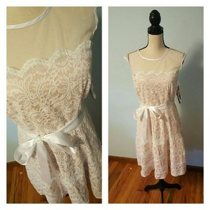 Betsy & Adam Lace & Romantic Formal Dress