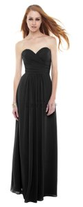Bill Levkoff Black Polyester 82955 Formal Bridesmaid/Mob Dress Size 4 (S)