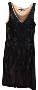 Sue Wong Beaded Lace Evening Dress