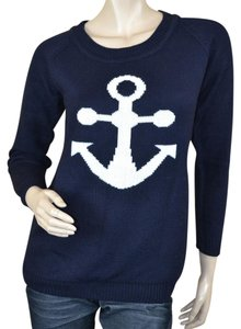 Other Knit Anchor White Sweater