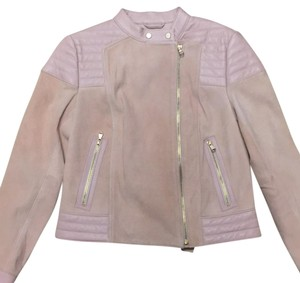 J Brand dusty rose Leather Jacket