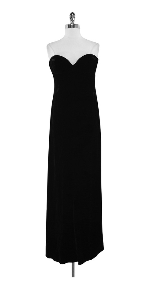 dea65ae59adf Valentino Black Velvet Strapless Gown Long Formal Dress Size 10 (M ...