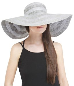 Helene Berman Stripe Crown Floppy Hat