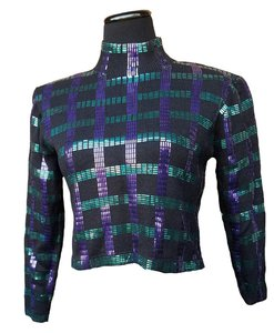 St. John Vintage Vintage Sequin Sequin Green Sequin Top purple