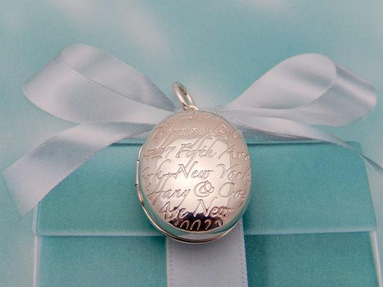 f27fa94b3982a Tiffany & Co. Silver Oval Fifth 5th Avenue Notes Locket In Sterling Charm