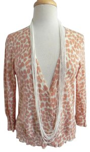 J.Crew Leopard Cheetah Spot Summer Dot Sweater Summer Sweater Cardigan