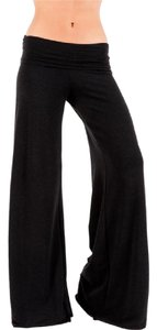 Saint Grace Yoga Flare Casual Wide Leg Relaxed Pants charcoal gray