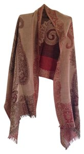 Sacred Threads Wrap with paisley design that can be reversed with fringe on the edges