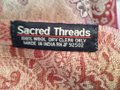Sacred Threads Wrap with paisley design that can be reversed with fringe on the edges Image 3