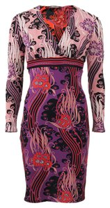 Roberto Cavalli Violet Abstract Bodycon Dress