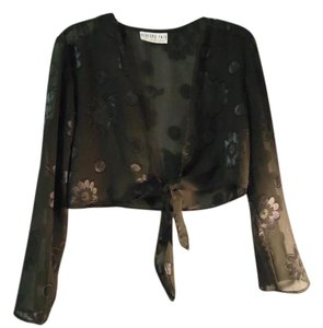 Bedford Fair Sheer Floral Bolero Cardigan