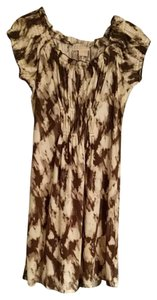 Michael Kors short dress Taupe and cream on Tradesy