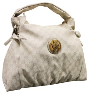 Gucci Gg Canvas Hysteria Top Tote in Cream Whites