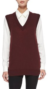 Theory Vest Reversible Maroon Sweater