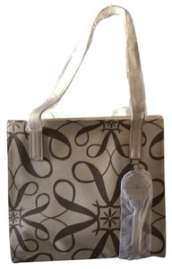 Avon Tote in Cream & Brown