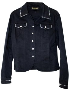 Christine Alexander Jacket Denim Swarovski Crystal Jacket