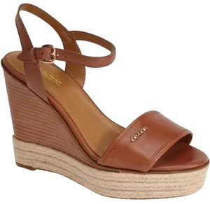 Coach Whiskey Brown Wedges