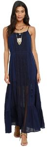 Blue Maxi Dress by Lulu*s Maxi Navy Lace
