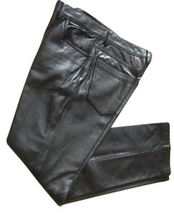 Brandon Thomas Leather Jeans Leather Leather Straight Pants Black