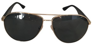 Prada Prada NEVER WORN black and gold aviators