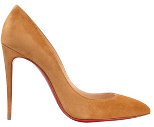 Christian Louboutin New Pigalle Follies 100mm Suede Brass Pumps