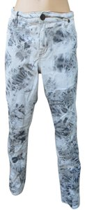 Rock & Republic & Skinny Plus Size 16 Tie Dye Skinny Jeans-Light Wash