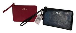 Coach Leather Wristlet in Red and Blue