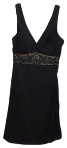 Sue Wong Beaded Sleeveless V-neck Dress