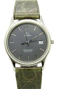 Omega Omega Seamaster Quartz Men's Watch, Swiss Made, Green Leather Band