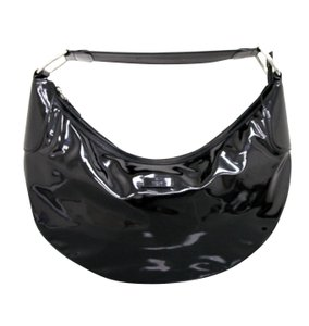 Gucci Patent Leather Half Moon Hobo Bag