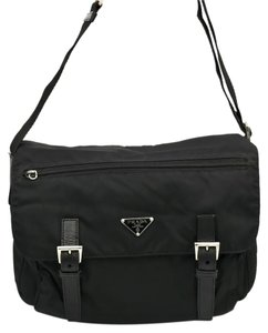 Prada Nylon Leather Designer Casual Cross Body Bag