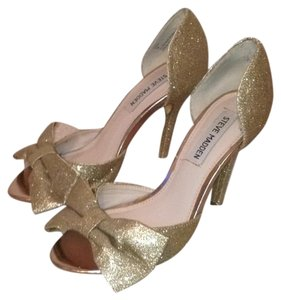Steve Madden gold glitter Formal