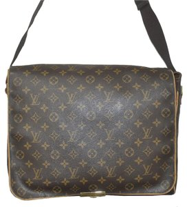Louis Vuitton Abbesses Canvas Brown Messenger Bag