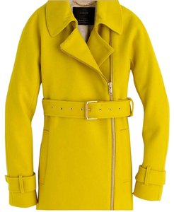 J.Crew Belted Zipped Trench Trench Statement Chartreuse Trench Coat