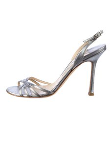 Jimmy Choo silver-tone Sandals