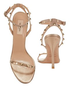 Valentino Gold, nude Sandals