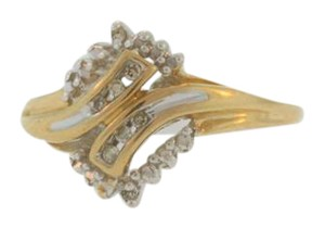Other Antique Bypass Diamond Ring- 10k Yellow Gold