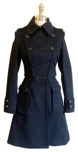 Karen Millen Wool Cashmere Fit And Flare Tailor Trench Coat