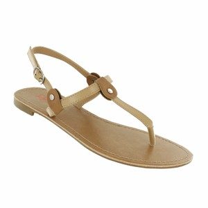 Red Circle Footwear Nude Sandals