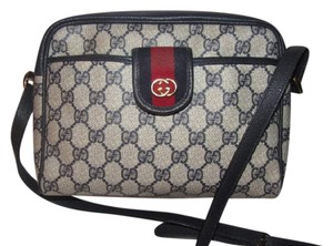 Gucci Excellent Vintage Combo Great For Everyday Roomy/smart Design Cross Body Bag