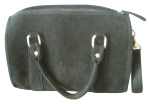 Urban Outfitters Mini-duffle Suede Satchel in black
