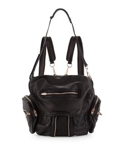 Alexander Wang Leather Rose Gold Convertible Backpack