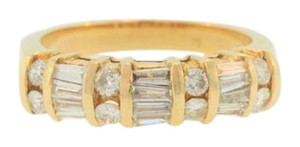 Other Vintage Bamboo Style Diamond Ring-14k Yellow Gold