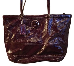 Coach Tote in Dark Purple