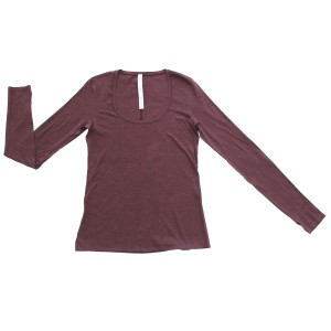 Lululemon Tee Longsleeve T Shirt Heathered Bordeaux