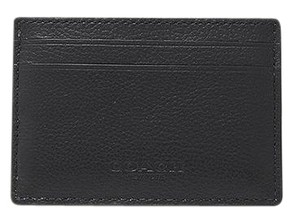 Coach NEW COACH men's leather Business card case holder Money clip black