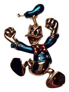 Disney Donald Duck Brooch with Hat on Spring 4886-G