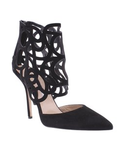 Oscar de la Renta Cut Out Stiletto Black Pumps