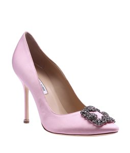 Manolo Blahnik Satin Pink Pumps