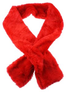 INC International Concepts INC red faux fur scarf / stole